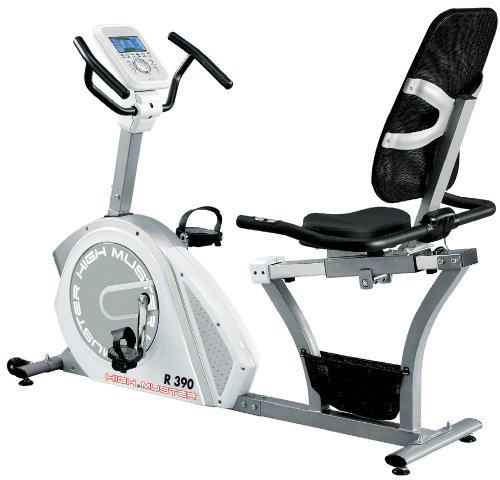 Cyclette recumbent R 390 Ergometro volano 12 kg High Power Fitness Palestra Bike