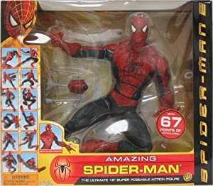 "The Amazing Spiderman Ulitmate 18"" Super Poseable Action Figure (2003 ToyBiz)"