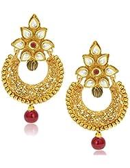 Sukkhi Dazzling Gold Plated Kundan Chandbali Earring For Women