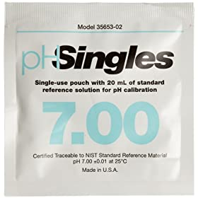 Oakton WD-35653-02 Singles Buffer Pouch, 7.00 pH (Box of 20)