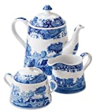 Spode Blue Italian 3-Piece Tea Set