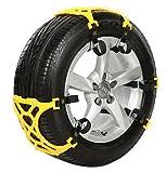 車 雪道 スタッドレスタイヤ用 プラスチック アイスバーン 凍結 スリップ 事故 悪路 車用 サイズ調節可能 スノーチェーンEX