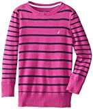Nautica Girls 2-6X Stripe Long Sleeve Sweater