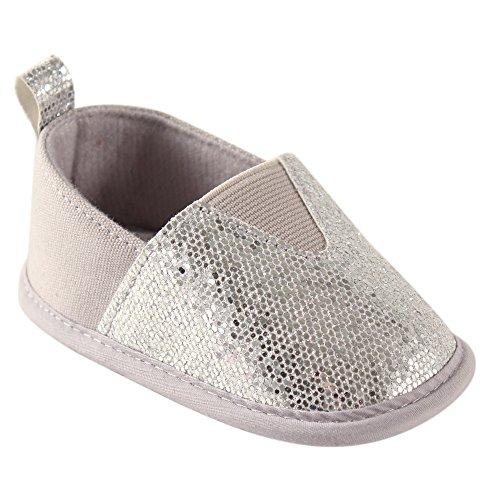 Luvable Friends Girl's Sparkly Slip-On (Infant), Silver, 6-12 Months M US Infant