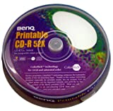 BENQ BQ CDR80 52XPW10PS 2-52倍速対応 CD-R DATA用 プリンタブルホワイト 10枚スピンドルパック