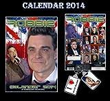 ROBBIE WILLIAMS 2014 KALENDER VON DREAM + FREE ROBBIE WILLIAMS Schlüsselring KEY RING