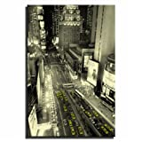 Canvas Culture - New York City Taxis Cityscape Canvas Print Yellow 75 x 50cm
