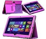 Navitech-étui/housse violette simili cuir pour Asus Vivo Tab TF810C 11.6 pouces Windows 8 pro...