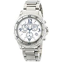 Citizen Women's Eco-Drive Silver Tone Band Chronograph Watch