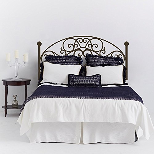 Wrought Iron Headboard Wall Decal Square Plant Wall Sticker Bedroom Wall Decor Wall Graphic Wall Mural Headboard Wall Decoration (Queen,Dark Brown) (Wrought Iron Headboard compare prices)