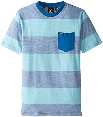 Volcom Big Boys' Drago Crew Short Sleeve T-Shirt, Bold Blue, X-Large