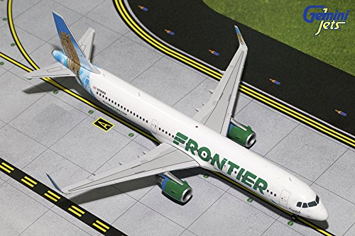 Gemini200 Frontier A321-200 'Ferndale The Owl' 1/200 Scale Airplane Model (Frontier Airlines Model compare prices)