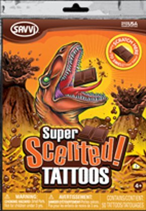 Super Scented Temporary Tattoos Chocolate Scent (50 Tattoos Per Package)