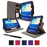 rooCASE Samsung Galaxy Tab 3 10.1 Case - Dual View Multi-Angle Stand Tablet Case - BLACK (With Auto Wake / Sleep Cover)