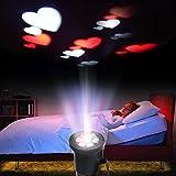 Excelvan Rot+Weiß Herz LED Projektor Lampe Stimmungslicht Wasserdicht Dekorative Leuchtmittel