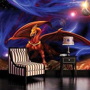 Space dragon wallpaper mural for Dragon mural wallpaper