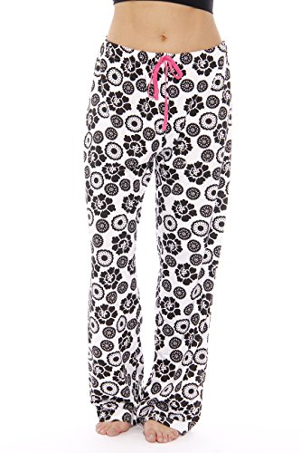 Just Love Robe / Robes for Women,1X Plus,Black & White Floral Medallion (Plus Size Pajamas)