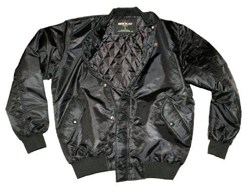 Rock-It-Giacca Biker, Giacca invernale, Nero Black xxl