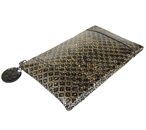 Bottega Veneta Intrecciomirage Pouch Bag Leather Clutch 301498 8414 сумка bottega veneta 171265vq1301000 bv 2014