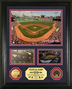 MLB Boston Red Sox Fenway Park Infield Dirt Coin Showcase Photo Mint by Highland Mint