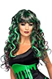 Smiffy's Siren 3 Tone Wig Costume, Green/Purple/Black, One Size Picture
