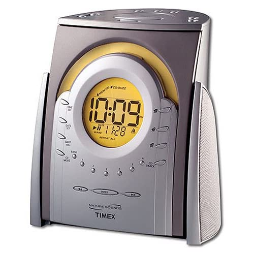 timex nature sounds cd clock radio t621t electronic alarm clocks. Black Bedroom Furniture Sets. Home Design Ideas