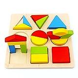 Highdas beb� Los primeros juguetes educativos de madera, Rompecabezas, Shape clasificaci�n y almacenaje de bloque Puzzles para ni�os de los ni�os