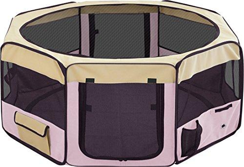 ottostyle.jp 折りたたみ八角形ペットサークル XLサイズ ピンク (約)150cm×62cm 【折りたたみ簡単!急な来客時やアウトドアに】