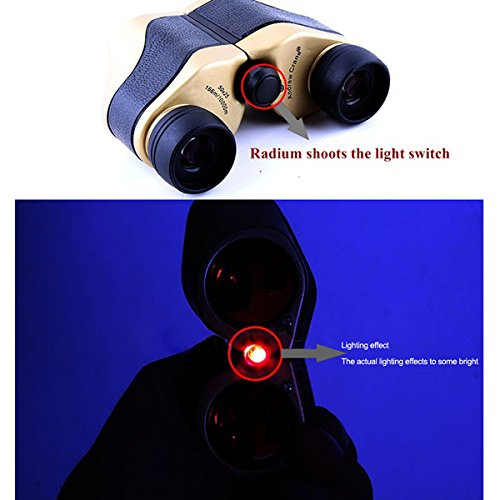 Compact Folding Roof Prism Binocular Binoculars Infrared Night Vision Portable