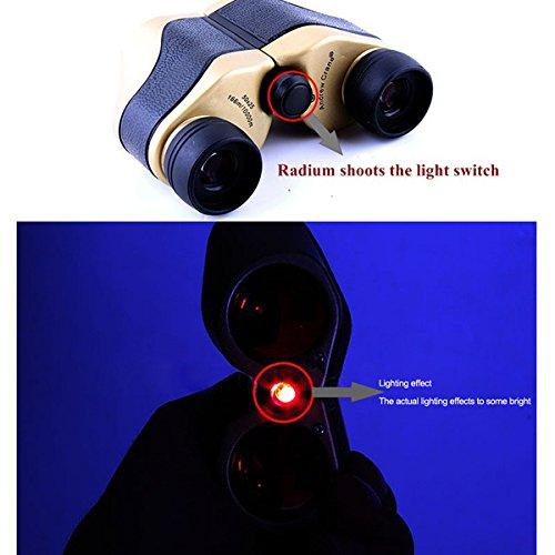 Compact Folding Roof Prism Binocular Binoculars Infrared Night Vision Portable
