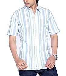 Moksh Men's Striped Casual Shirt V2IMS0414-13 (Medium)
