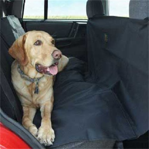Tojoy Pet Dog Auto Back Seat Hammock Easy-Fit Seat Cover, Large, Black front-141984