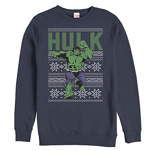Marvel Hulk Ugly Christmas Sweater Mens Graphic Sweatshirt