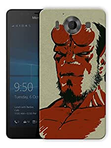"Humor Gang Hell Boy Vintage Printed Designer Mobile Back Cover For ""Nokia Lumia 950"" (3D, Matte, Premium Quality Snap On Case)..."