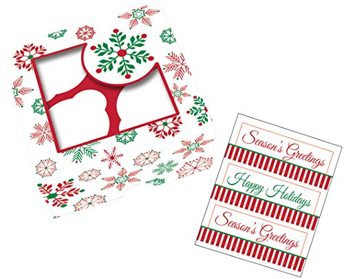 Creative Converting 3 Boxes Treat Boxes with Stickers, Snowflakes, Clear