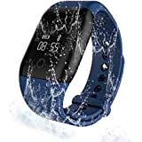Fitness Tracker, Winwin Wearable Waterproof Blood Oxygen Monitor Smart Band With Multi-Functions (Blue)