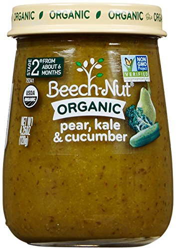 Beech-Nut Just Organic Stage 2 Purees - Pear, Kale & Cucumber - 4.25 Oz - 10 pk - 1