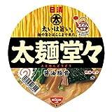 日清 太麺堂々 醤油豚骨 107g×12個