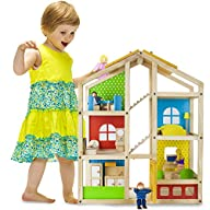Wooden Wonders Tall Townhome Dollhous…