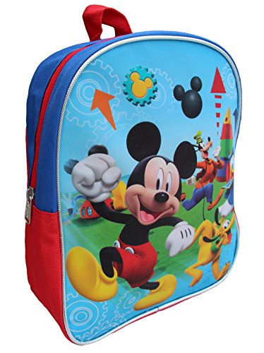 "Great Features Of Disney Mickey Mouse 11"" Mini Toddler Preschool Backpack"