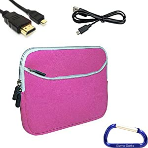 neoprene zipper sleeve cover case hdmi usb cable bundle for the acer iconia tab. Black Bedroom Furniture Sets. Home Design Ideas