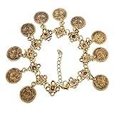 Shining Diva Punk Style Bohemian Coin Infinity Charm Cuff Bangle bracelets for girls