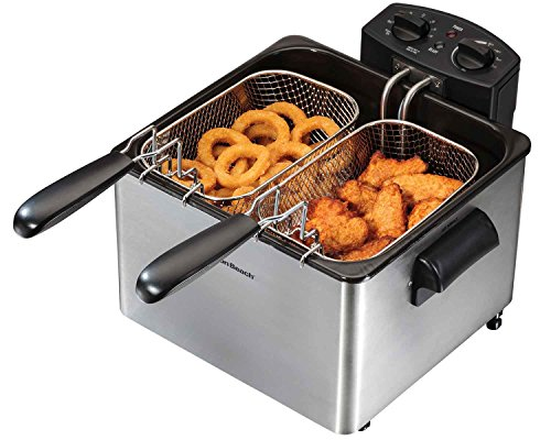 Great Features Of Hamilton Beach 35034 Professional-Style Deep Fryer, Silver