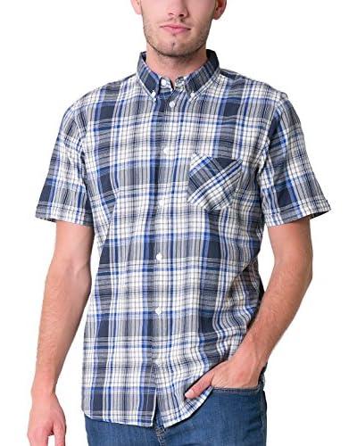 BIG STAR Camisa Hombre Grolc_Shirt_Ss 452 L Azul / Blanco