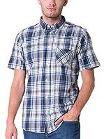 BIG STAR Camisa Hombre Grolc_Shirt_Ss 452 L (Azul / Blanco)