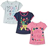 #3: Donuts Baby Girls' T-Shirt (Pack of 3) (272516676_Assorted_18M)