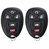 KeylessOption Keyless Entry Remote Control Car Key Fob Replacement 15912860 (Pack of 2)