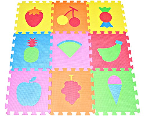 Fruit Puzzles Play Mat 9-tile EVA Foam Multi-color Kids Floor by Poco Divo by POCO DIVO (Fruit Foam compare prices)