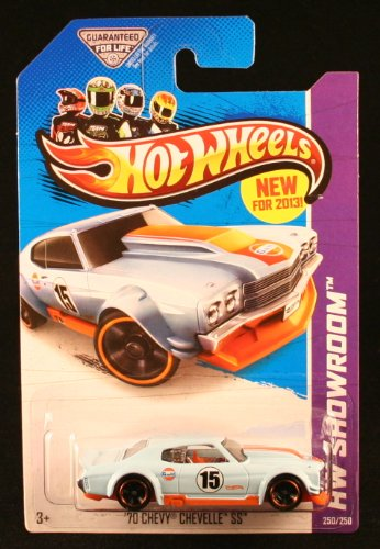 70 CHEVY CHEVELLE SS (LIGHT BLUE) * HW SHOWROOM / HW PERFORMANCE * 2013 Hot Wheels Basic Car 1:64 Scale Series * Collector #250 of 250 * - 1