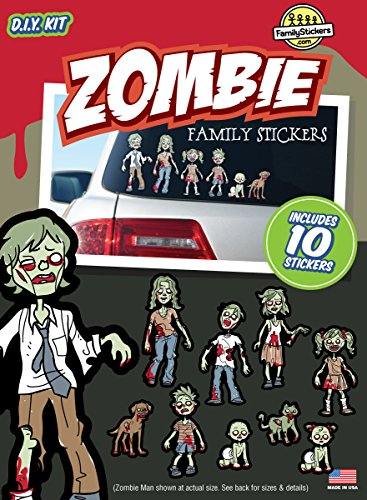 [Zombie Family Stickers Kit] (Zombie Family Decals)